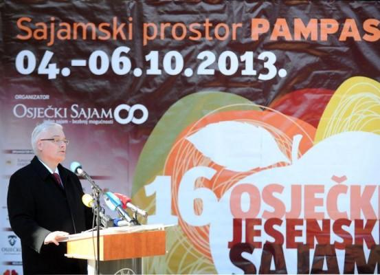 Predsjednik na otvaranju sajma
