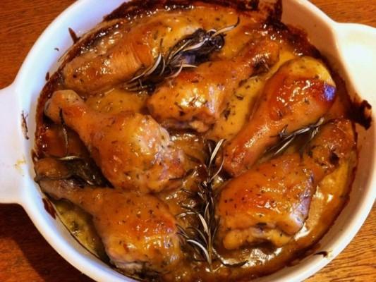 8. piletina s djumbirom, maslinovim uljem i medom